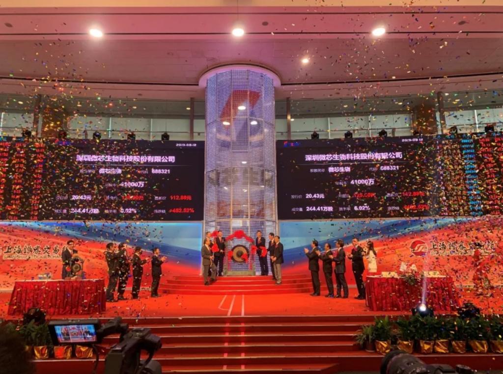 祝贺深圳微芯生物科技股份有限公司科创板成功上市